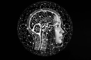illustration of brain and woman