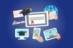 illustration icons of academic certifications