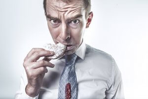 picture of man eating