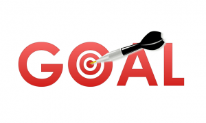 dart and bullseye illustration on goal