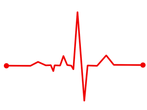 picture of heart rate monitor graph
