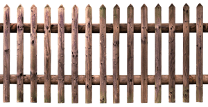 image of wooden fence