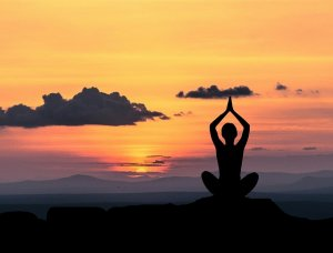 image of someone meditating
