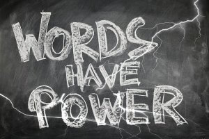 image of blackboard written words have power