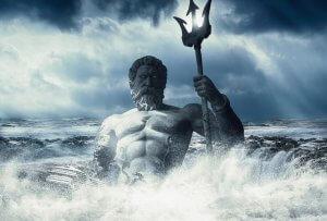 image of greek god poseidon holding a trident