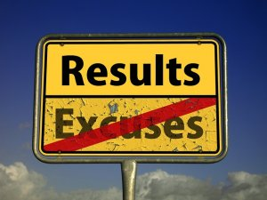 sign written results and excuses