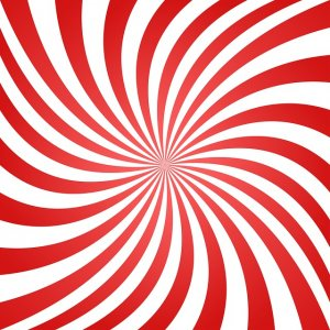swirl of alternating red and white color
