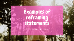 Image for examples of reframing statements
