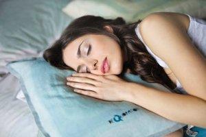 Image of a lady sleeping